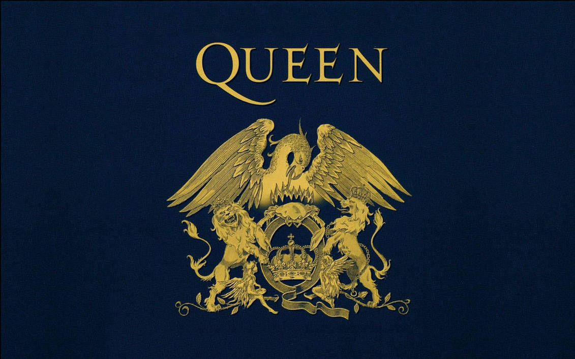 Queen's logo, known as the Queen Crest, was actually created by Freddie Mercury.  He had a degree in graphic design.
