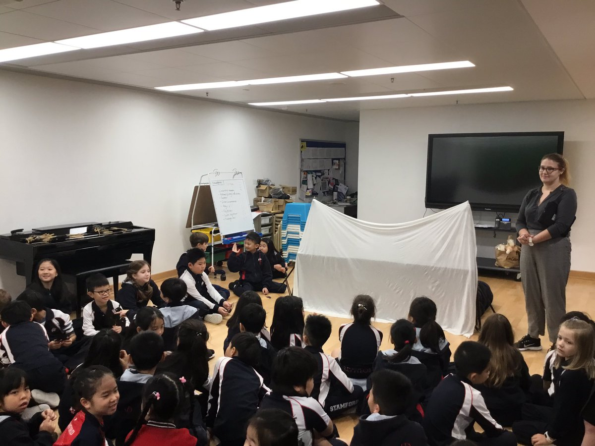 Thank @DramaTeachAmyP for inviting us to watch G3's Shadow Puppets Show! Ss had a great time watching their peers' creations! We went back and watched some Chinese Shadow Puppets shows #皮影戏. We should collaborate a Chinese one next time! #StamfordHK #CognitaWay #DramaEducation