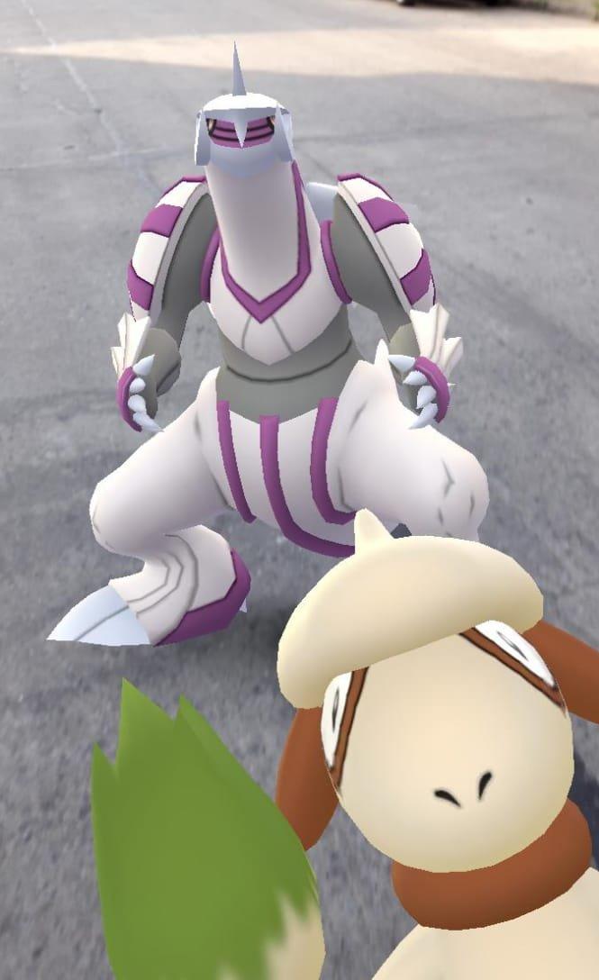 Imagen de Nidos Pokémon GO Argentina con Smeargle y Palkia