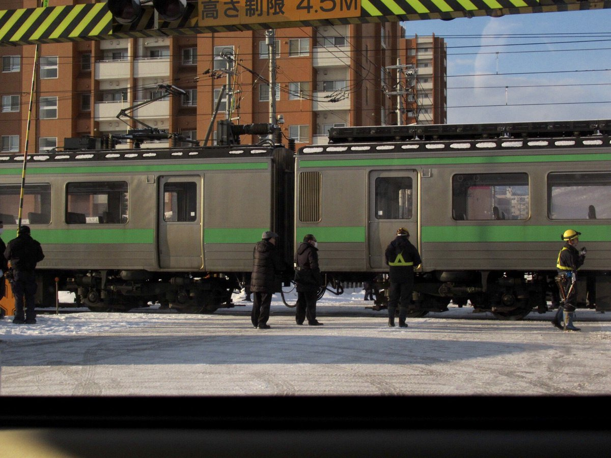 函館線の発寒駅~発寒中央駅で高校生が自殺した人身事故現場の画像