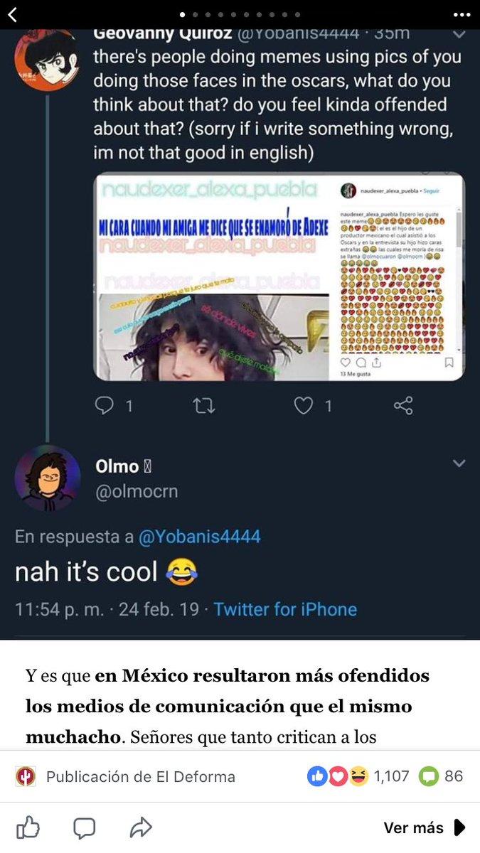 tuit en que olmo cuarón dice que sus memes son cool