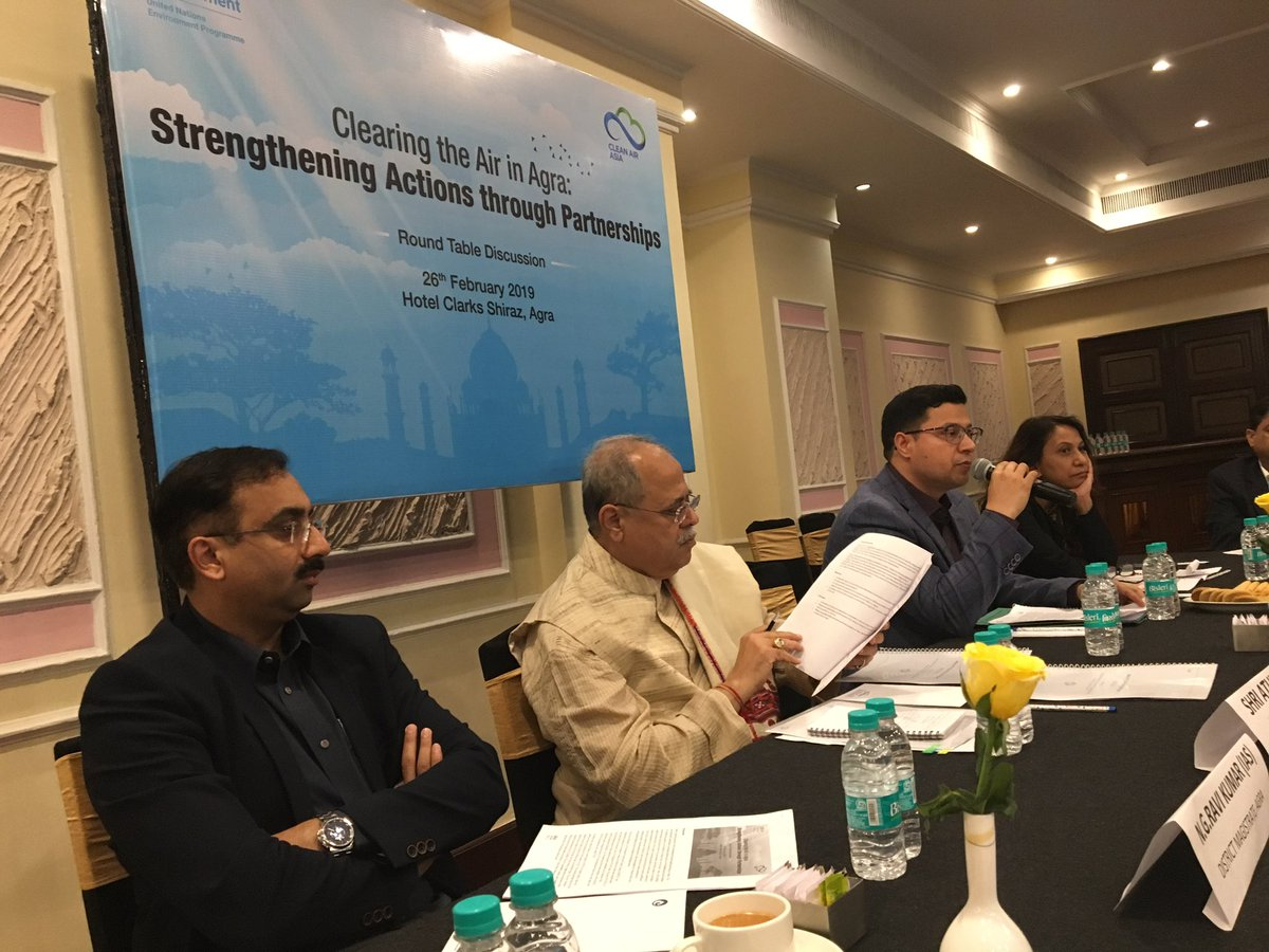 test Twitter Media - Discussion on Clean Air Action Plan for #Agra has just started, would feed into strengthening and implementing the actions under #NCAP  organised by @cleanairasia @UNEnvironment  @prarthana_delhi @RaviSingrauli @swatissambyal @greenpeaceindia @DelhiBreathe @a_khosla @MRTB_India https://t.co/hFB0629HTJ