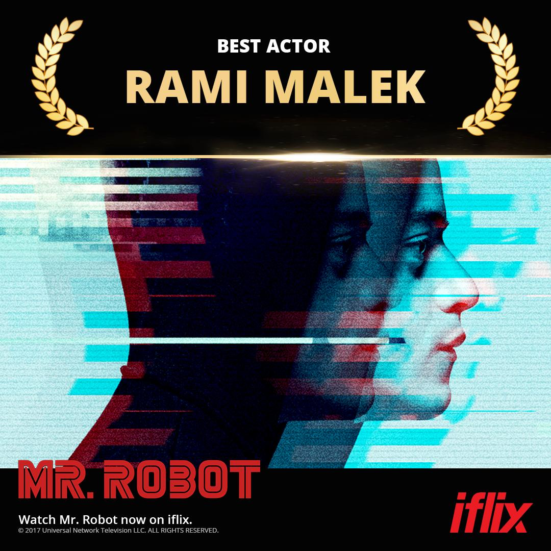 Iflix Philippines On Twitter Everything Ramimalek Touches Turns Into Awards Gold Before The Best Actor Winner Played An Epic Rock God He Spent His 10 000 Hours Hacking Democracy In Mr Robot Watchnow On