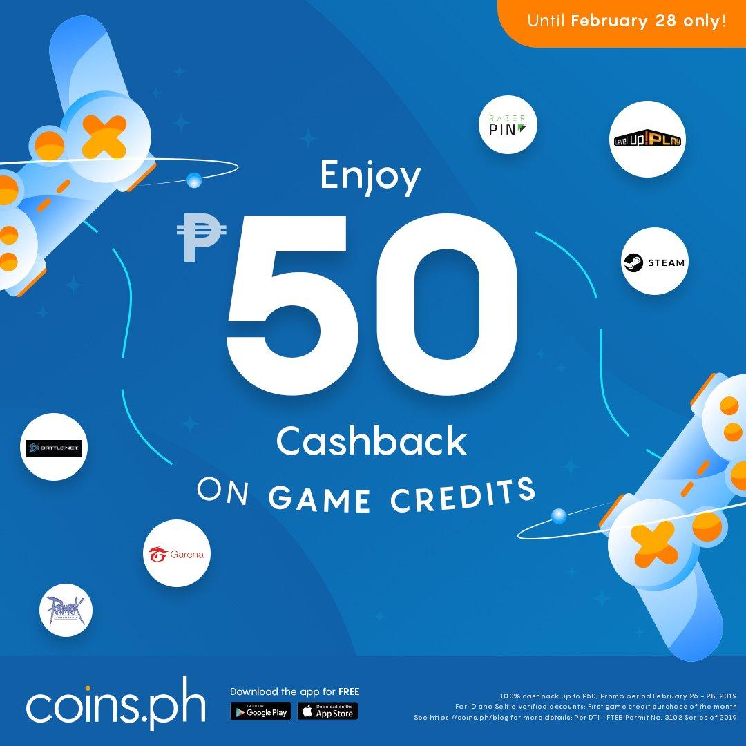Get up to P50 cashback on Steam Wallet Codes, Garena Shells