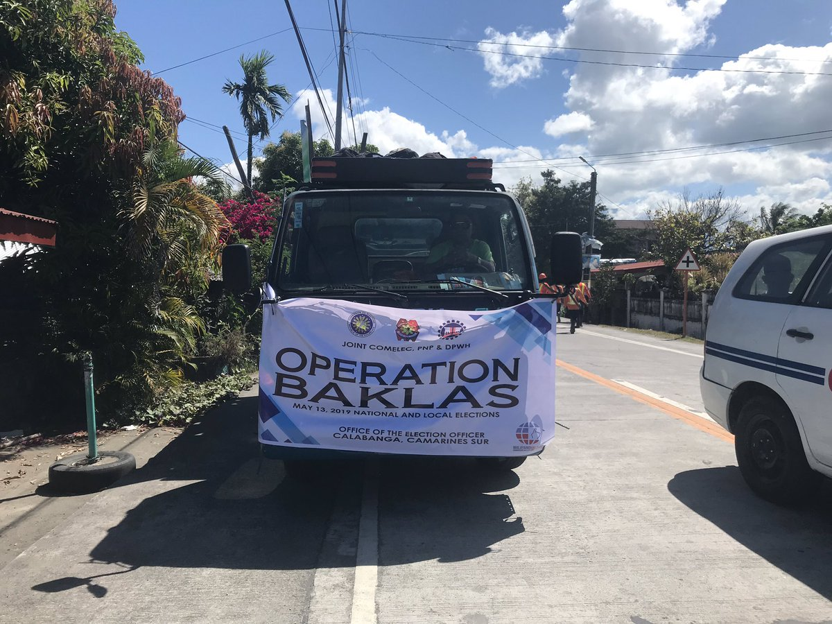 Operation Baklas Calabanga Camarines Sur : Comelec