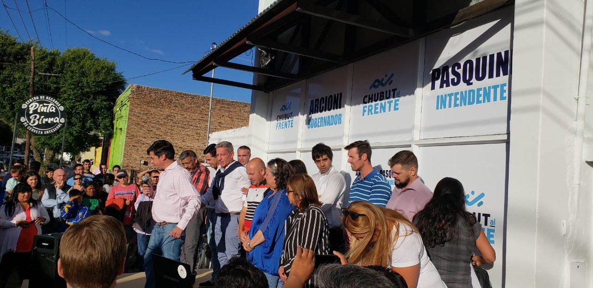 Juntos para Chubut, de la mano de la actual Diputada Cecilia Torres Otarola, en el acto que encabezó Crhistian Pasquini en Esquel. Estuvieron presentes candidatos a Diputados Provinciales, a concejales, el actual Gobernador Mariano Arcioni y su compañero de formula Ricardo Sastre