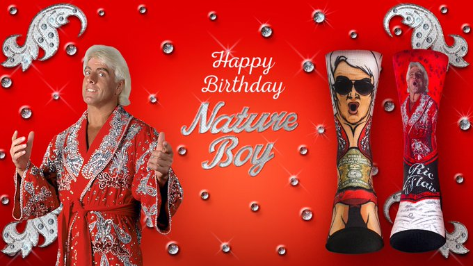 Happy Birthday to The Nature Boy Ric Flair! Stylin and Profilin for 70 Years!