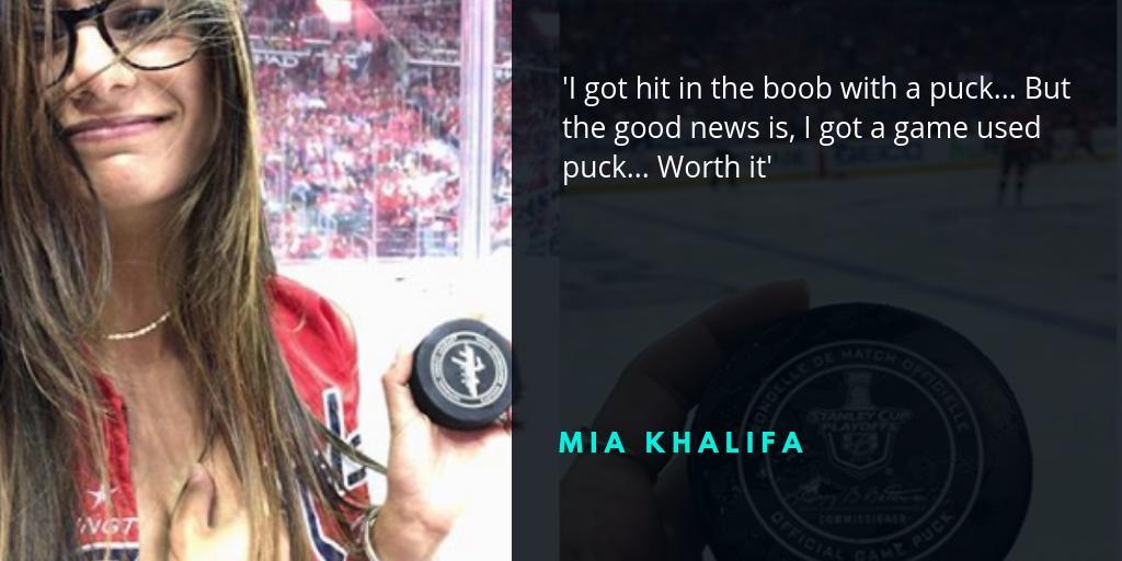 ex porn star mia khalifa undergoes surgery to fix breast implant ruptured  by hockey puck