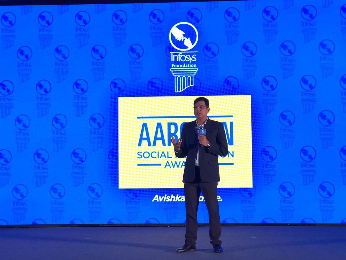 .@virmani_sumit, Senior Vice President and Global Head-Marketing, delivered the valedictory address, congratulating all the winners and participants at #Aarohan #SocialInnovation awards ceremony https://infy.com/2GPkhpU