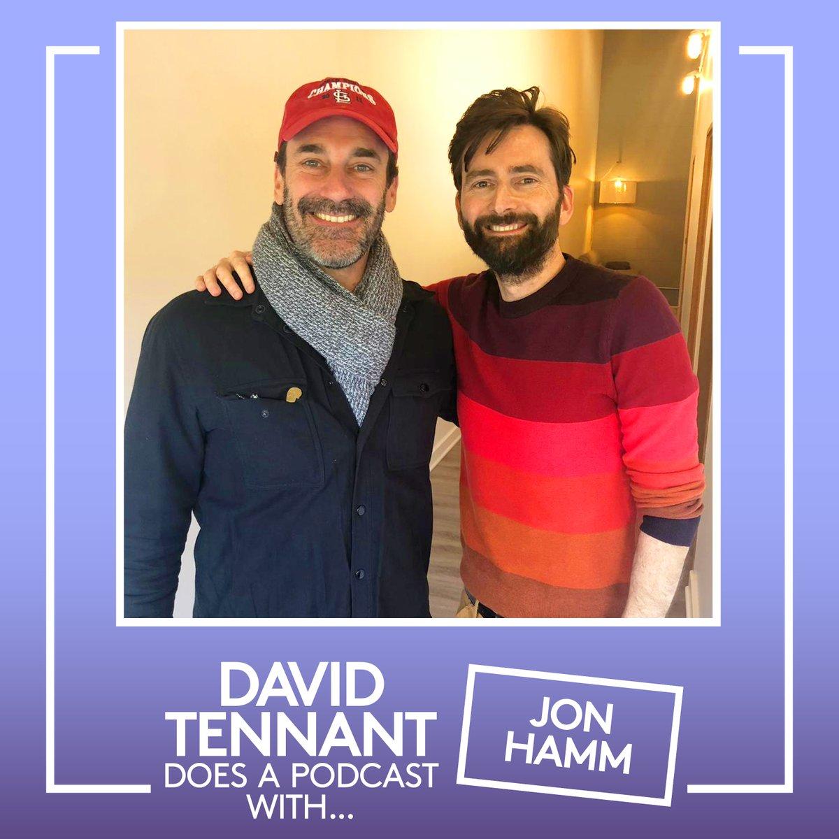 David Tennant with Jon Hamm