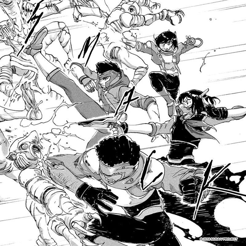 NUSA V brings red-hot #tokusatsu action!  Read Chapter 1 here: https://t.co/IjaN8wNkJ8  #manga #shogakukanasia #nusav #sentai https://t.co/X1W9x1vJGv