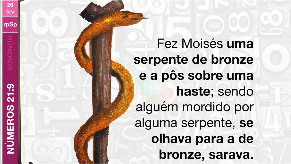 #Nm21| O levantamento da serpente de bronze deveria ensinar a Israel uma importante lição. Não poderiam salvar a si mesmos dos efeitos fatais do veneno em seus ferimentos. Apenas Deus os poderia curar.  (PP,430) #PrimeiroDeus #rpso