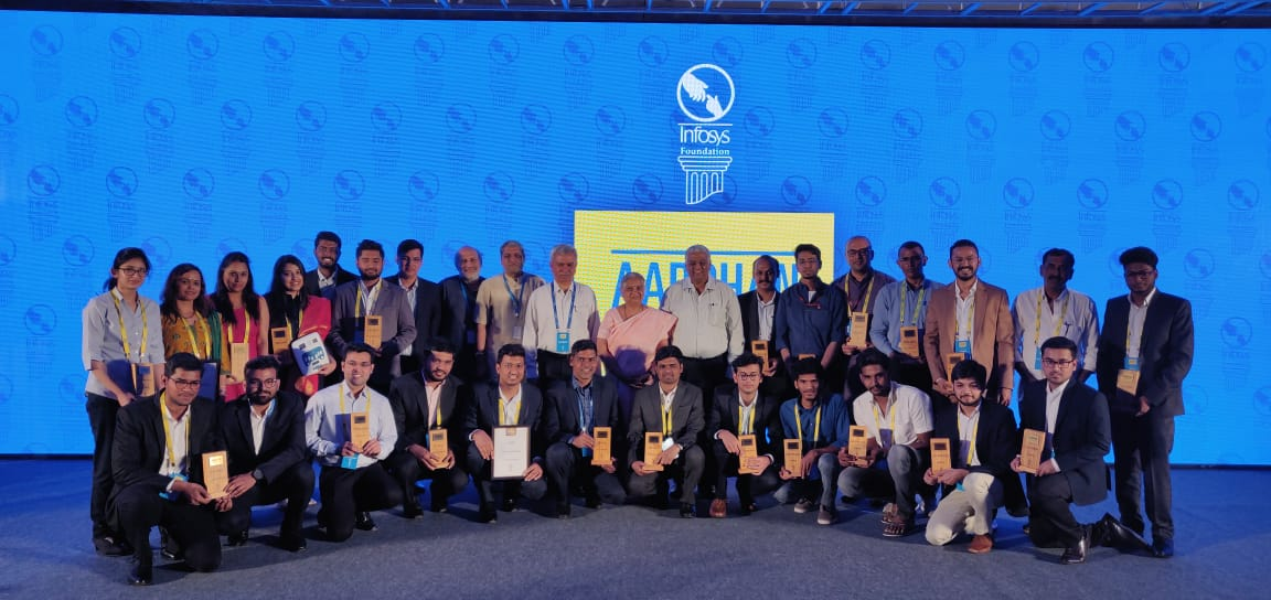 The winners were selected from more than 900 submissions by a distinguished jury comprising Prof. Trilochan Sastry, Padma Shree Mr. Arvind Gupta, Prof. Anil Gupta, Prof. GVV Sharma, @virmani_sumit and Mrs. Sudha Murty. https://infy.com/2SZRHZp #SocialInnovation #Aarohan