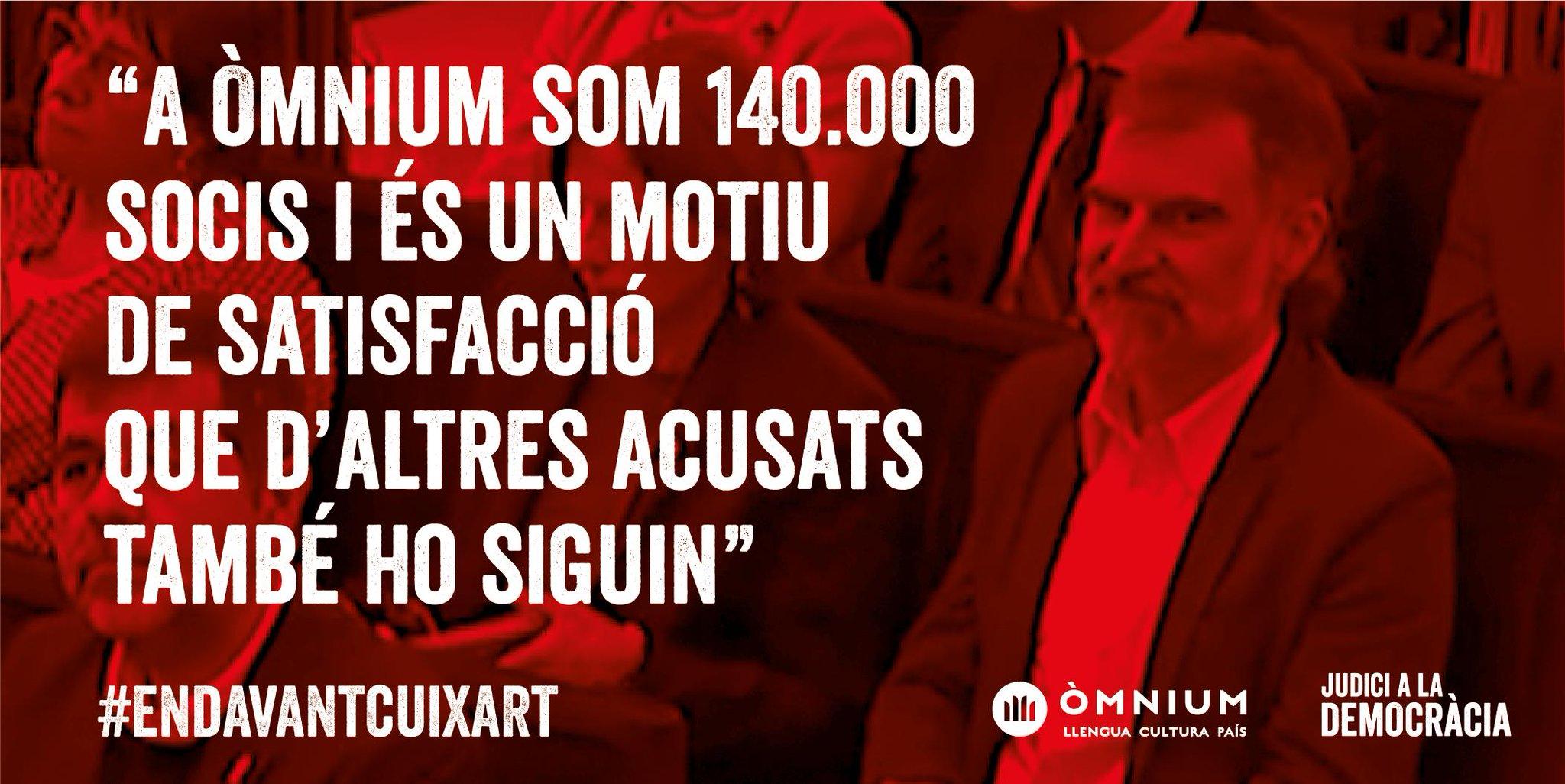 D0UcriJX0AEvQmA - Declaració del president d'Òmnium Cultural Jordi Cuixart, al Tribunal Suprem. 26 de febrer de 2019. Recollida per Omnium Cultural