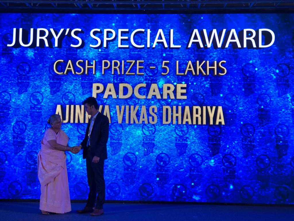 Jury special mention awards were given across four categories - Sustainability, Education, Rural development, and Women safety and empowerment, with each winning team receiving prize money of INR 5 lakhs at #Aarohan #SocialInnovation awards ceremony https://infy.com/2T01cI3