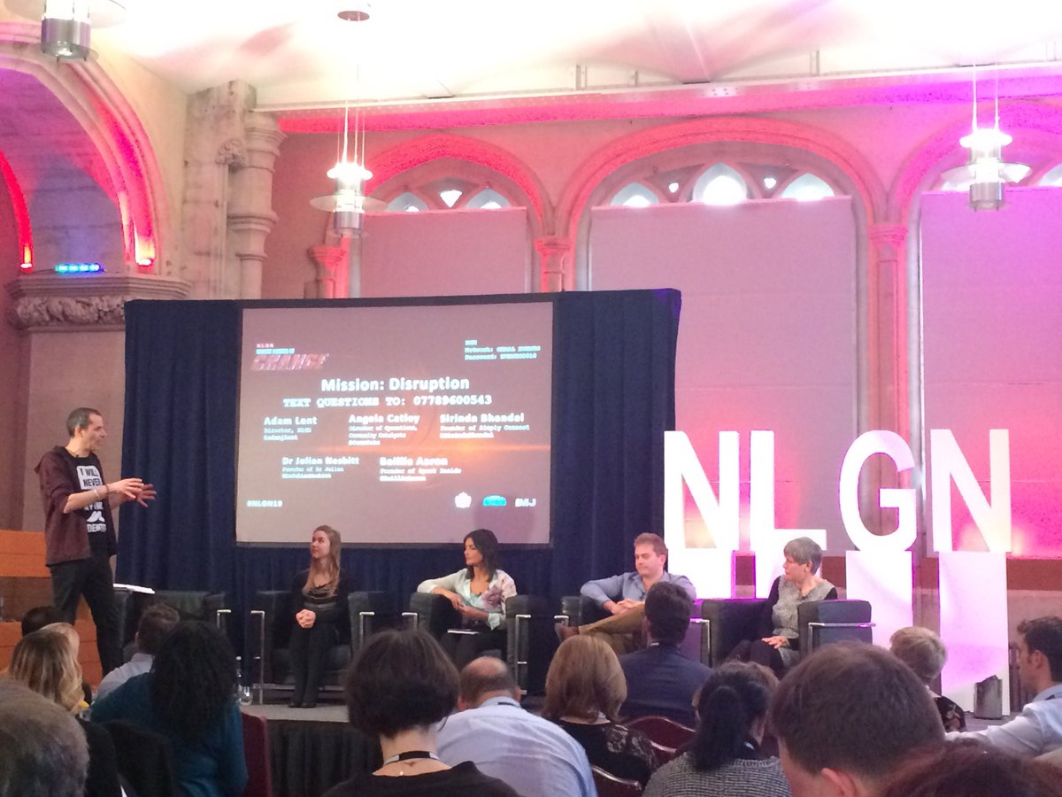 "How do you get focus locally to mobilise communities to deliver change? Asks ⁦@adamjlent⁩ of final panel ⁦@NLGNthinktank⁩ #nlgn19 conf ""positive disruptors"""