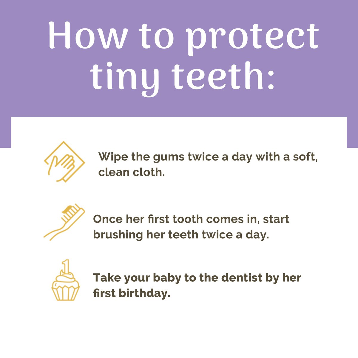 You may not see them yet, but your baby's teeth are hiding right beneath the gums. This February, you can celebrate National Children's Dental Health Month by learning how to care for them from the start. #NCDHM #TinyTeeth
