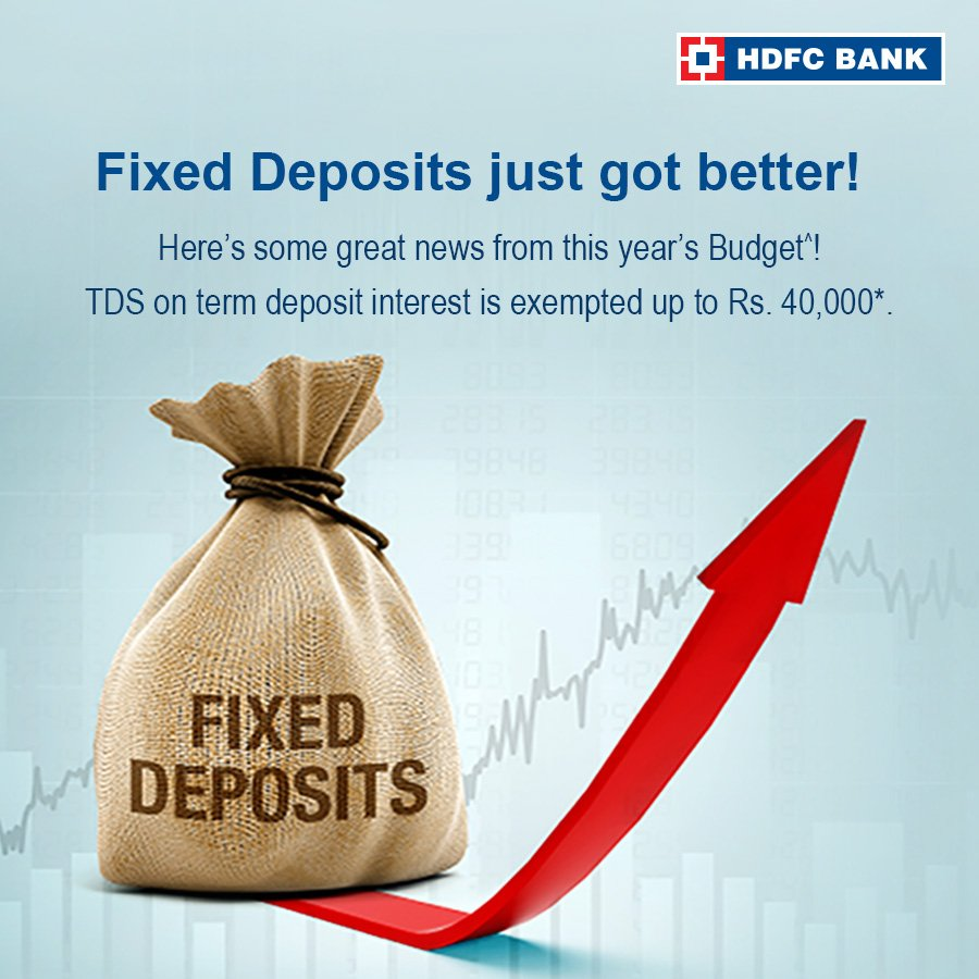 Hdfc Bank On Twitter Interest Rates On Fixed Deposit Are At An All