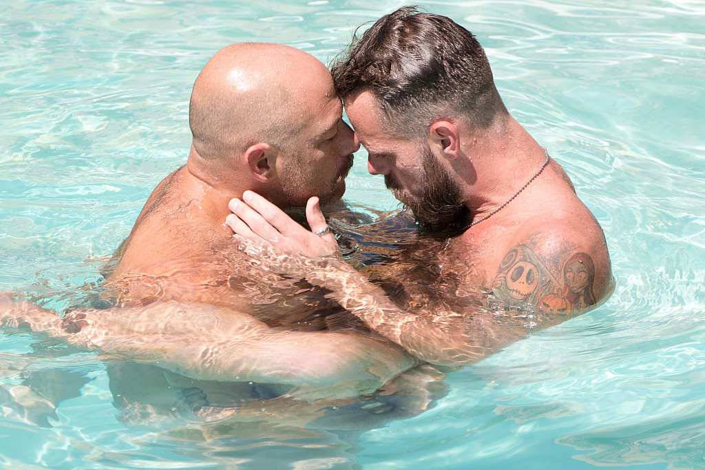 Swimming gay porn photo