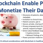 Image for the Tweet beginning: Will Blockchain Enable Patients to
