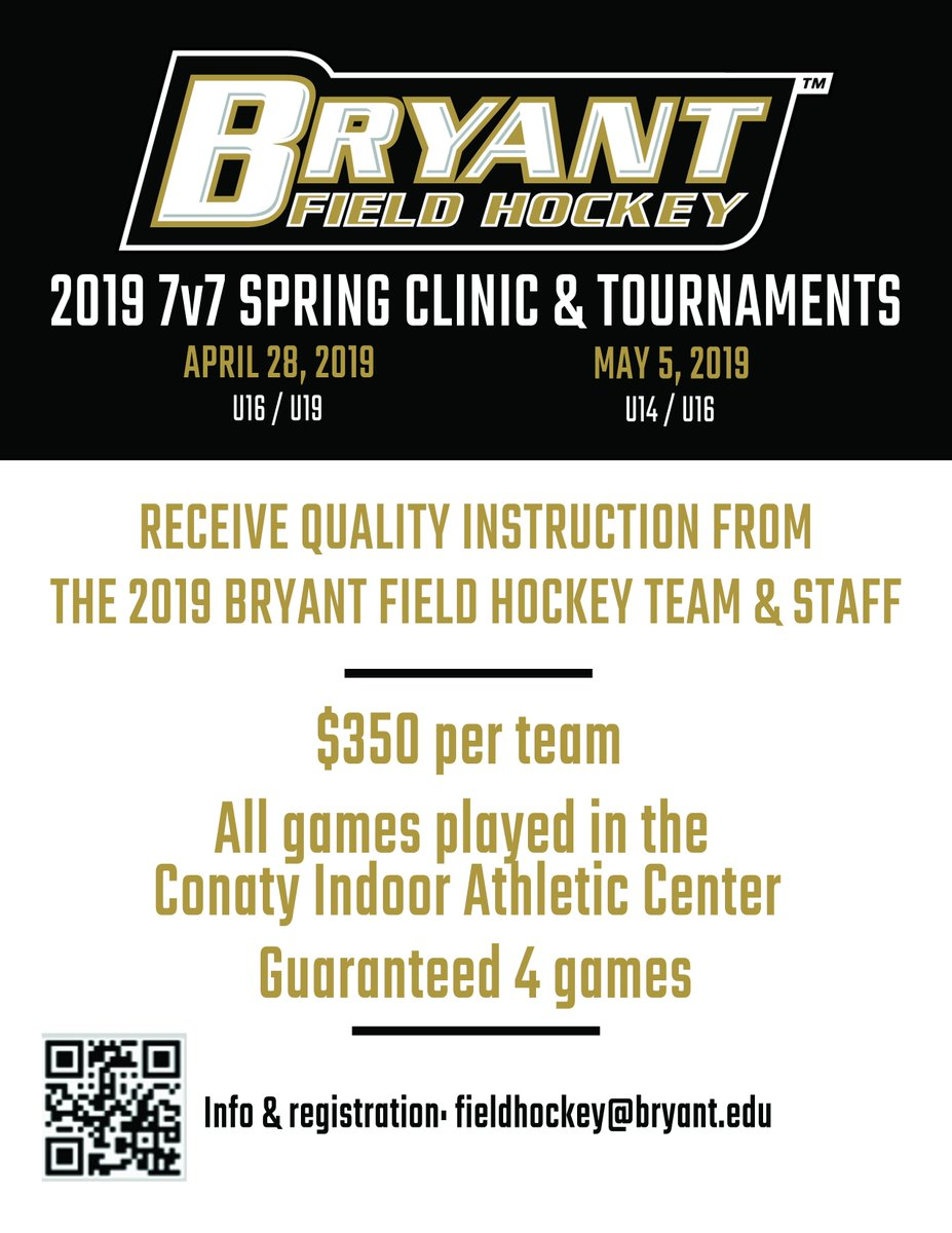 February is almost over which means spring is getting closer and closer! (Even though it doesn't feel like it 🌬)  Don't miss your chance to sign up for all of our multiple spring clinics and tournaments.   #GoBryant