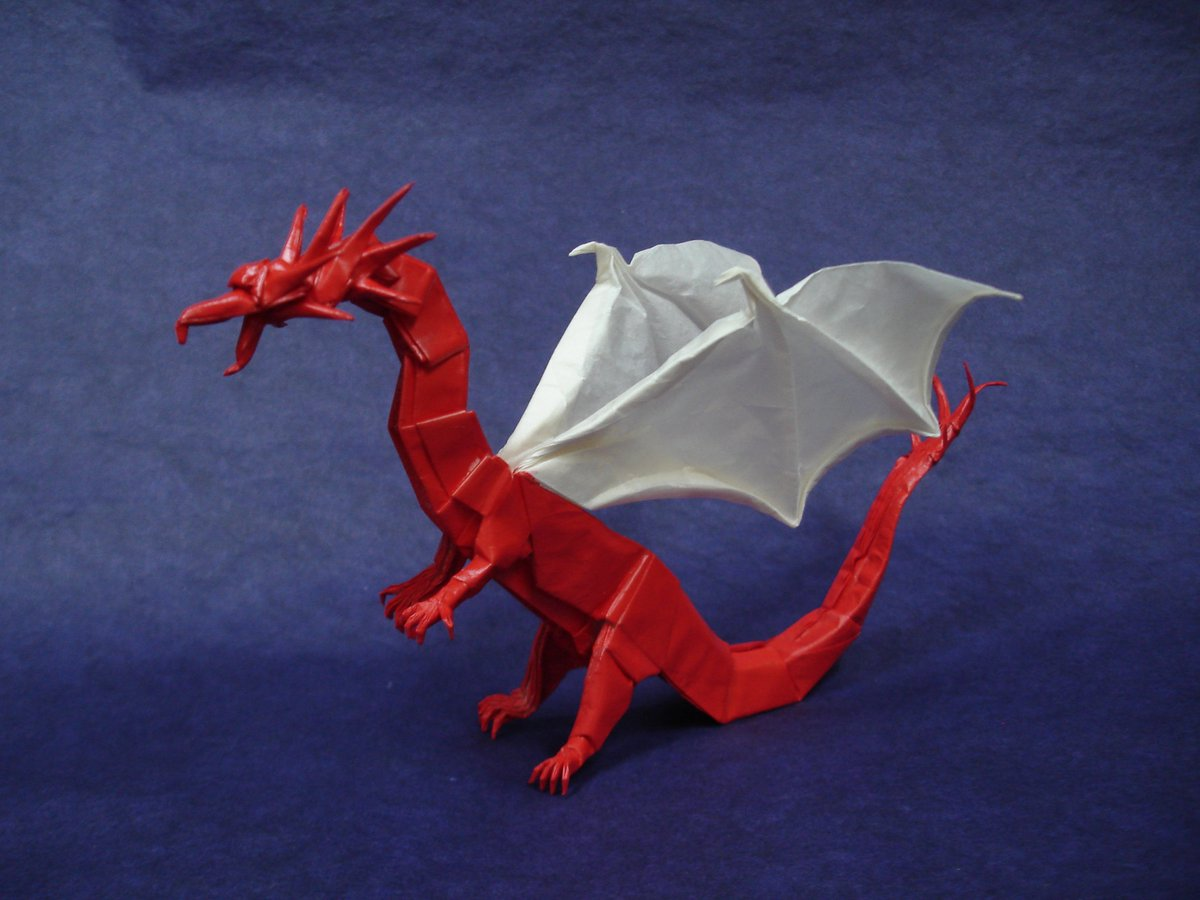 Western Dragon V3 by Shuki Kato folded by me : origami | 900x1200