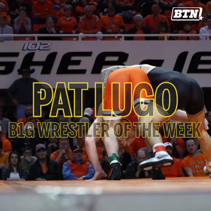 Upset the No. 6 wrestler in the country, earn B1G Wrestler of the Week!   Congrats to @Hawks_Wrestling's @MasterP_145 on earning this honor for the first time!