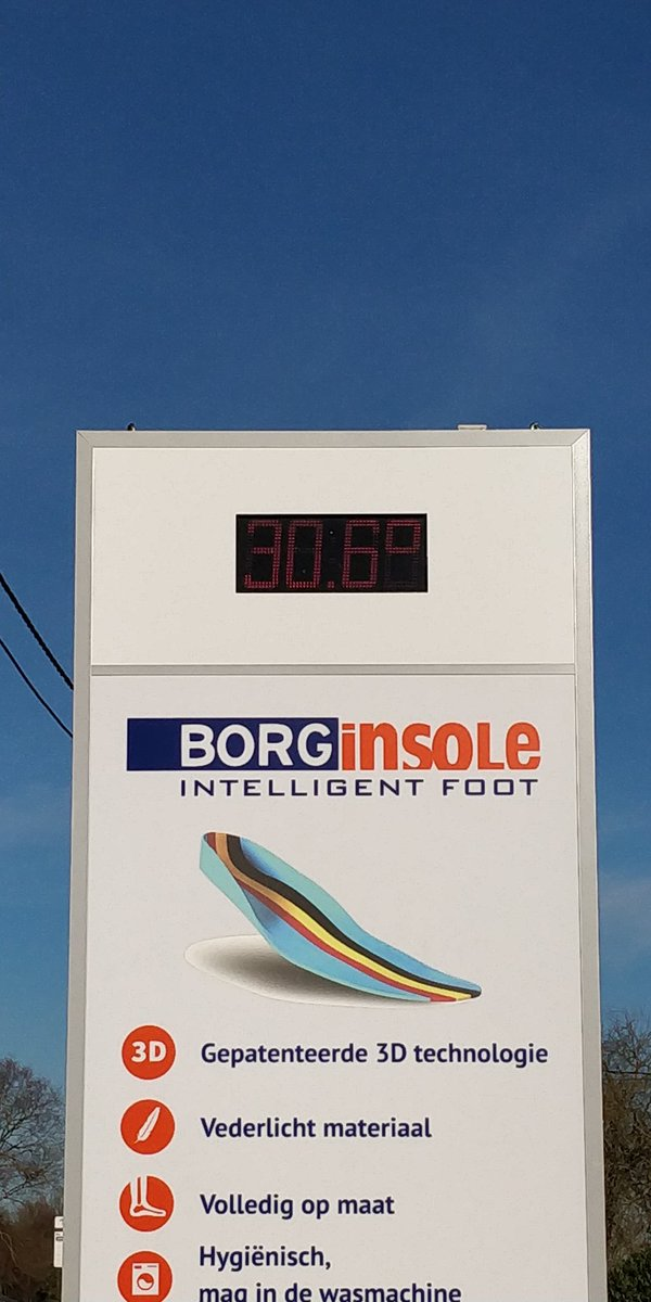 Hotest 26th of February in Belgium. Temperature in thé sun of more than 30° ....We like it. https://t.co/K9gxwxhpBF