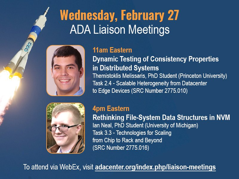 All ADA sponsors and researchers are invited to this week's task liaison meetings. Complete info at https://adacenter.org/index.php/liaison-meetings …
