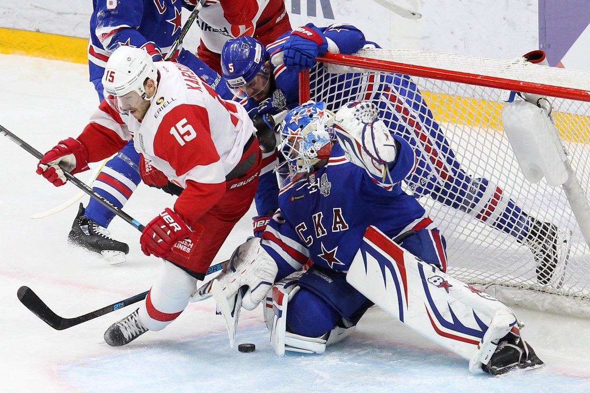 «Спартак» победил СКА в матче первого раунда плей-офф КХЛ (Видео)