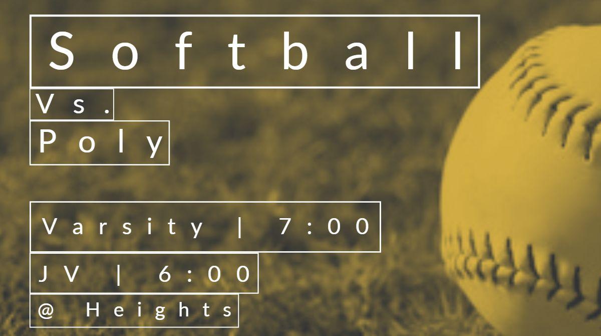 Lady Jacket Softball open district play tonight v Poly!