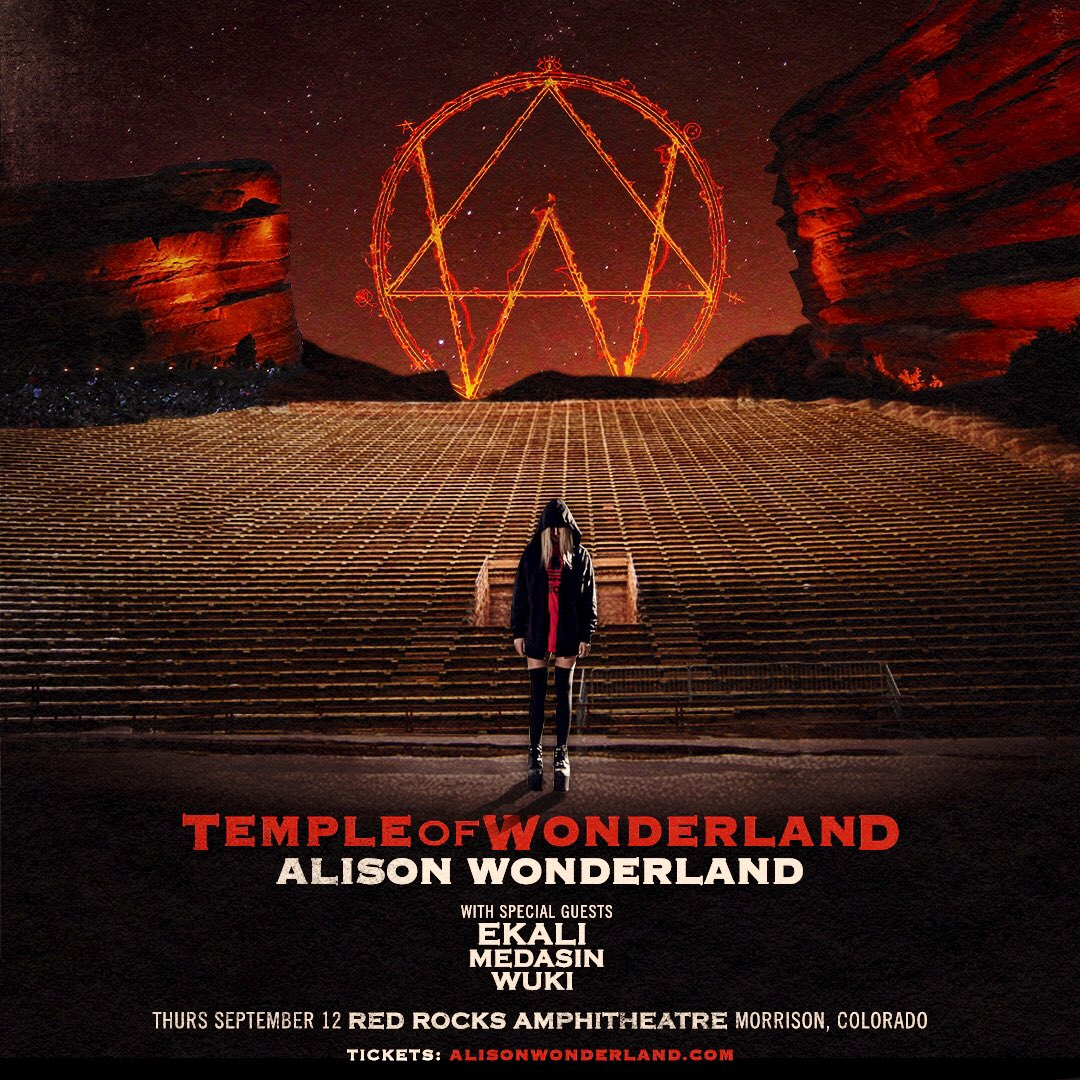 Alison Wonderland Headlining Red Rocks Poster