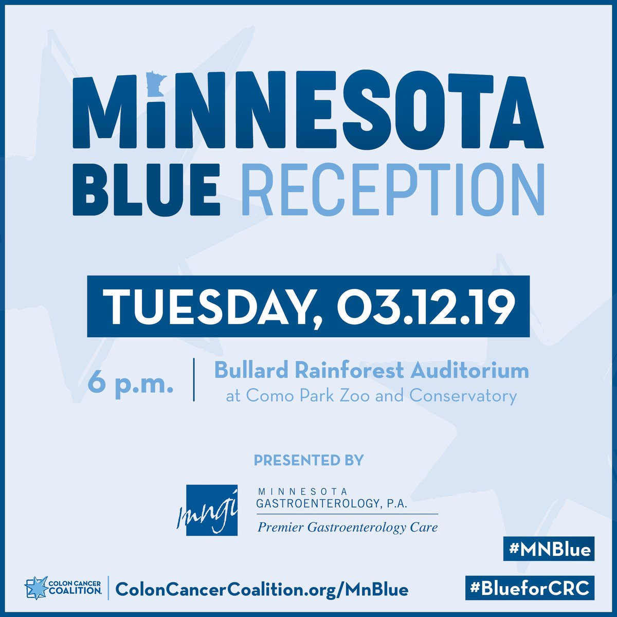 Colon Cancer Coalition Sur Twitter Thank You To Mn Gastro For Being The Presenting Sponsor Of Our Minnesota Blue Reception On March 12 Survivors Caregivers And Partners Across The State Are Invited
