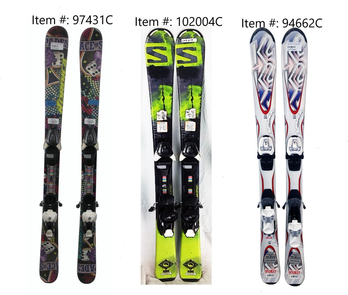 Salomon Rocker 2 100 Skis, 170cm, BlackYellowWhite, Ski