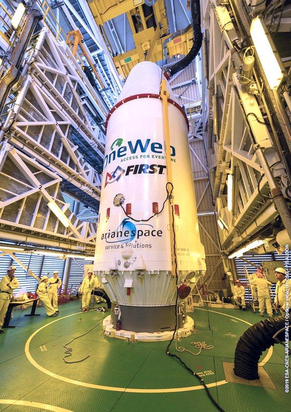 Mission réussie pour le lancement des premiers satellites OneWeb qui connecteront le monde entier à Internet D0XVNxBXcAA9I4S?format=jpg&name=900x900