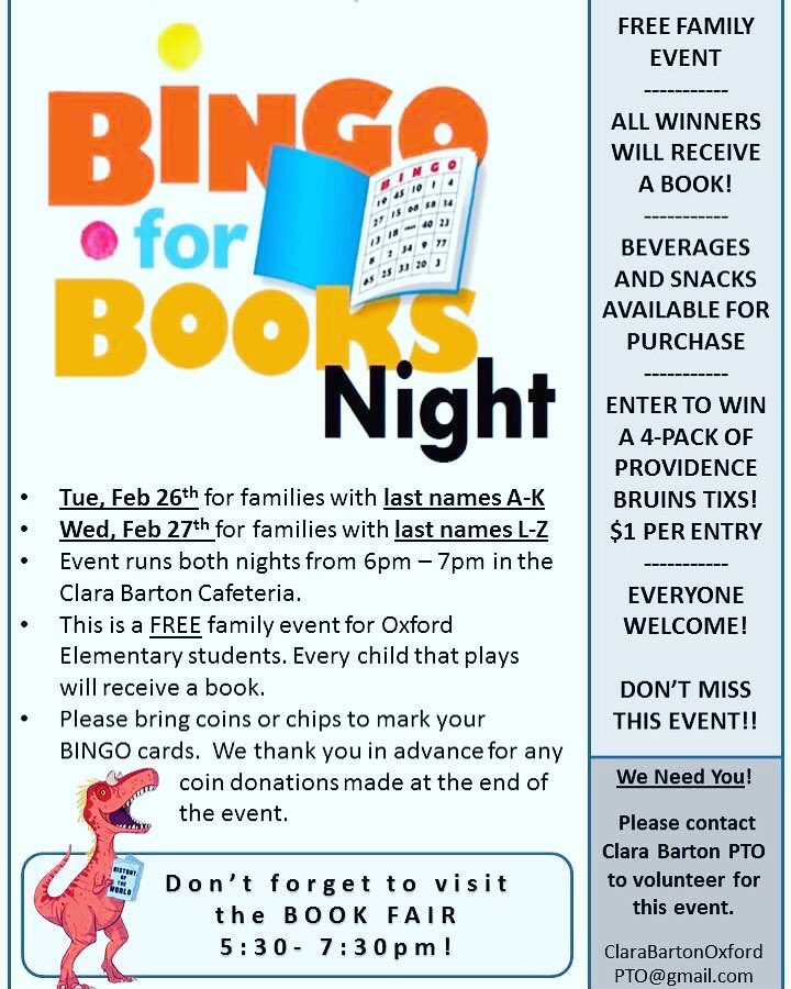 Bingo for Books is happening! Tonight for students with last names A-K, tomorrow for students with las names L-Z! Hope to see you there! #bingoforbooks #bartonkidsrock<br>http://pic.twitter.com/RU0UrcTVs6