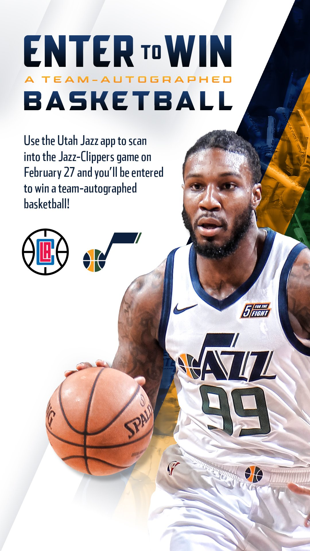 Utahjazz On Twitter Scan In To Win When You Enter Tonight S Game Against The Clippers At Vivintarena Using The Utah Jazz App You Will Be Automatically Entered To Win A