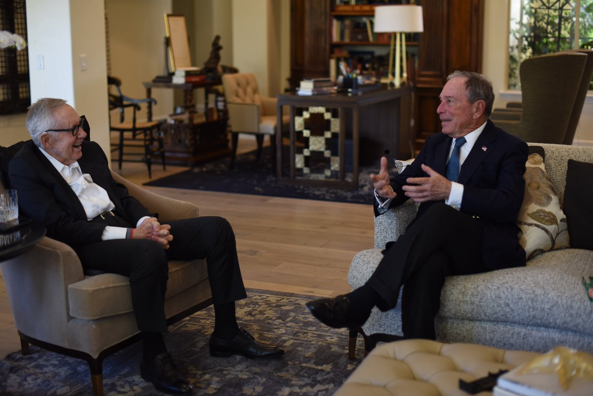 Nevada has been a leader on critical issues that matter to Americans, like gun safety, thanks to leaders like @SenatorReid—great to catch up today and discuss progress.