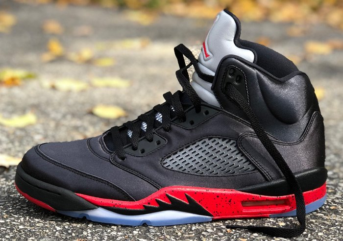 4156d341cfbcd ... black university red  Satin  Air Jordan 5 Retro are over 25% OFF retail  at  135.98 + FREE shipping! BUY HERE -  http   bit.ly 2T4mN2a (use discount  code ...