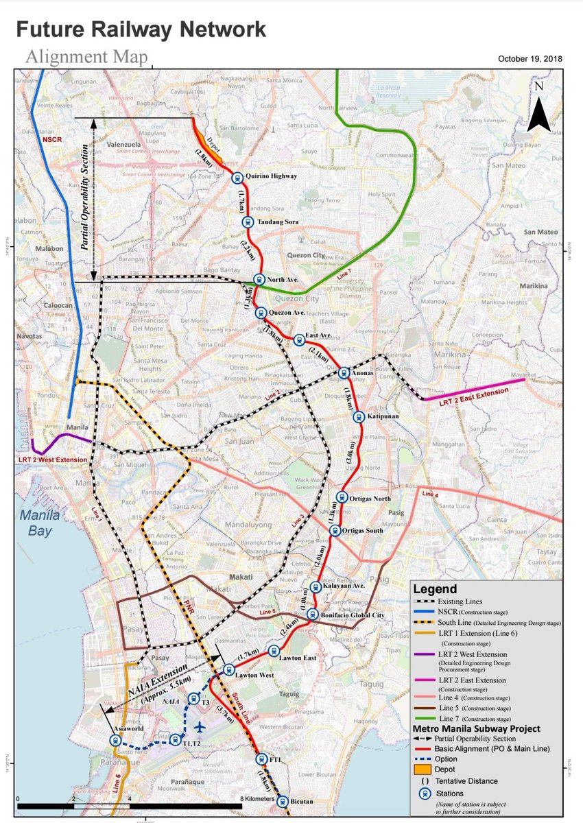 Manila Subway Map.Dotrph On Twitter Look The Alignment Map For The Metro