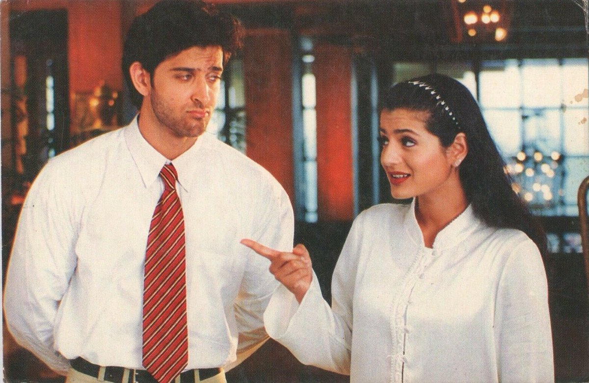 Hrithik Roshan and Ameesha Patel clicked in this rare