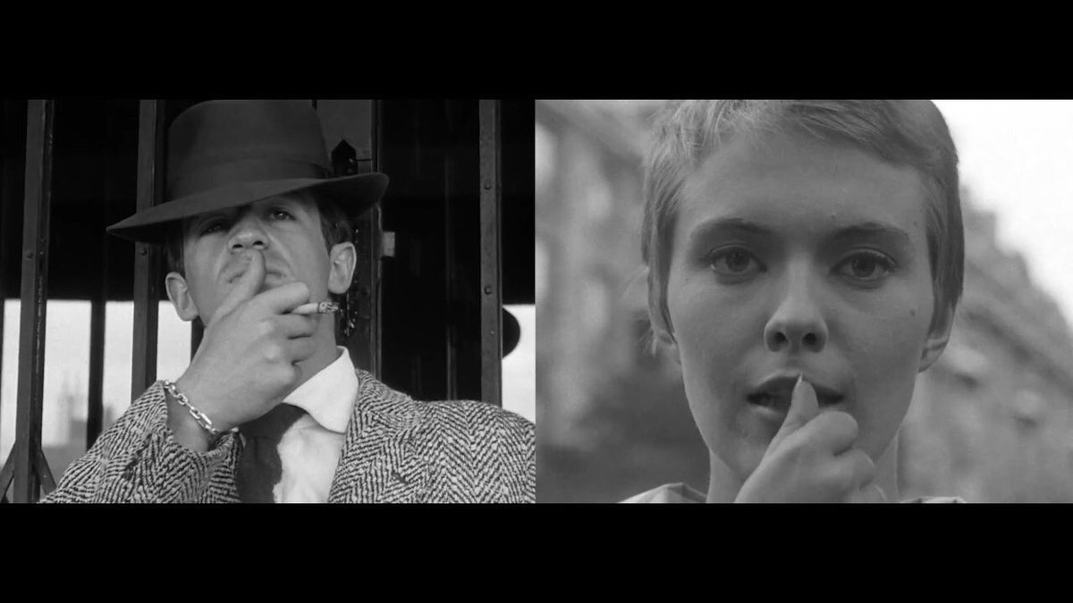 BREATHLESS (1960)  Dir. Jean-Luc Godard DP: Raoul Coutard  #FirstAndFinalFrames