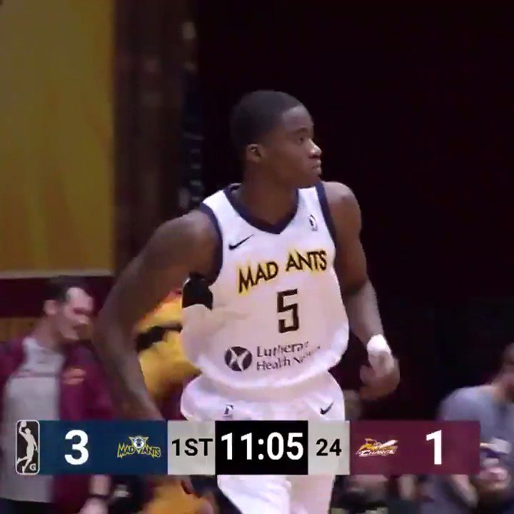 34 PTS | 4 REB | 7 AST  @Pacers assignee & @XavierMBB product @EdmondSumner was BIG for @TheMadAnts!