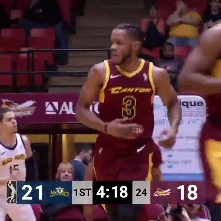 Tough to stop in the paint, and 🔥🔥 from DEEP!  #2WayPlayer Jaron Blossomgame (@JaronBgame) went for 29 PTS, 7 REB & 5 AST... while hitting 5 triples 👌  @ClemsonMBB ↗️ @austin_spurs ↗️ @cavs ↔️ @CantonCharge