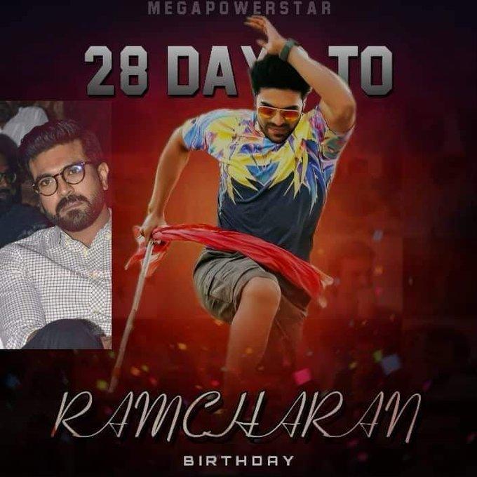 Advance happy birthday to you RAM Charan Babu