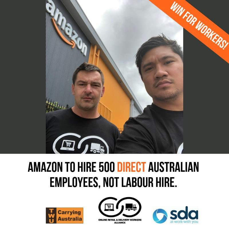 3576c8d734de7 But it's not enough - Amazon must recognise the right for workers to join  their union & stop the disgraceful working conditions.