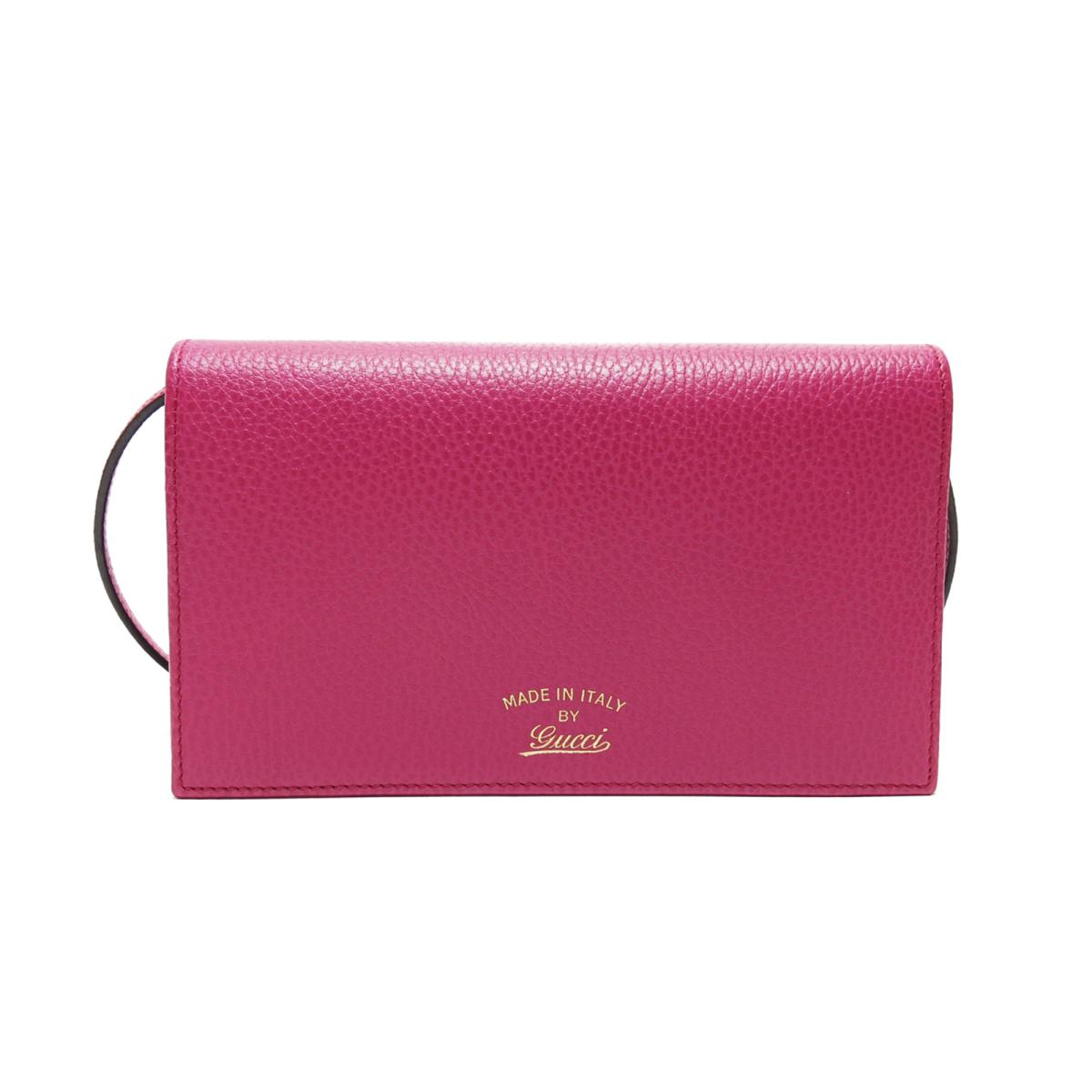 314c1a406a30 GUCCI Swing Crossbody Clutch Bag Wallet Purse Pink Leather 368231  http   bit.