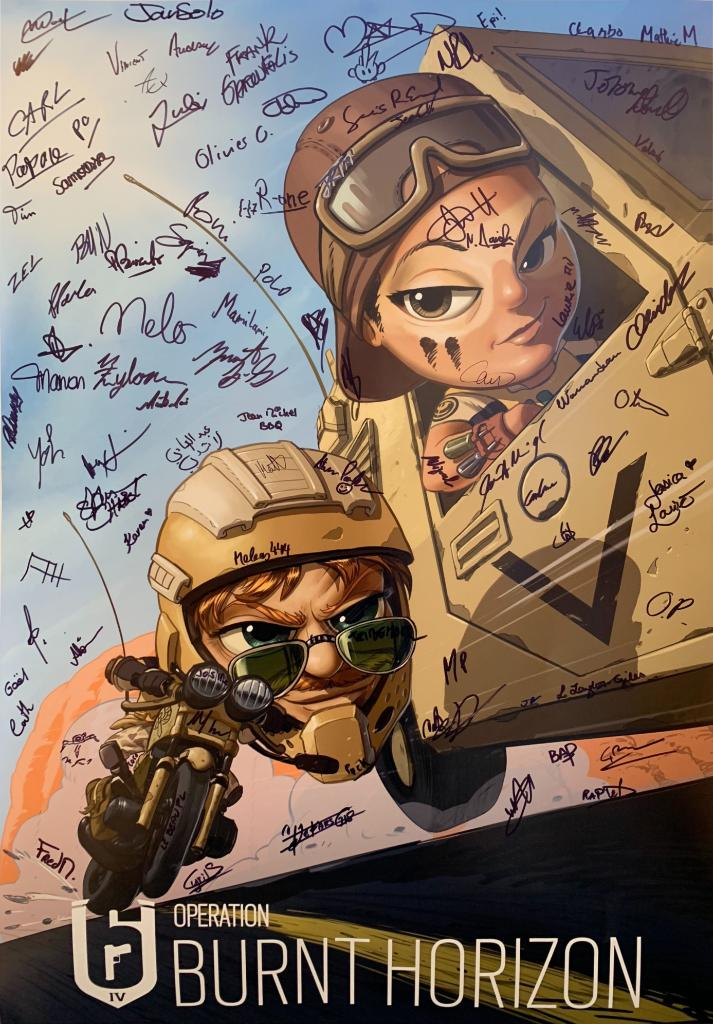 Operation Burnt Horizon is a go!  We're celebrating the new season and the start of Y4 with a giveaway of this BH-chibi poster signed by the Devs!  ✔ RT this tweet to enter ✔ On Monday, March 10th, we'll select one lucky winner to receive this one-of-a-kind poster.  GL & HF!