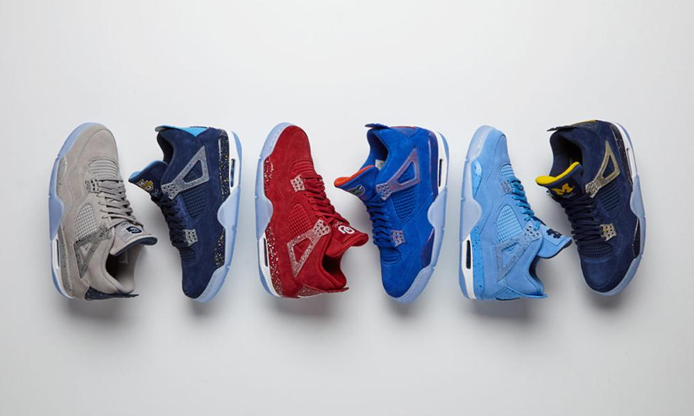 jordan brand unveils a fresh pack of college air jordan 4 pes for march  madness 40a42e6a64