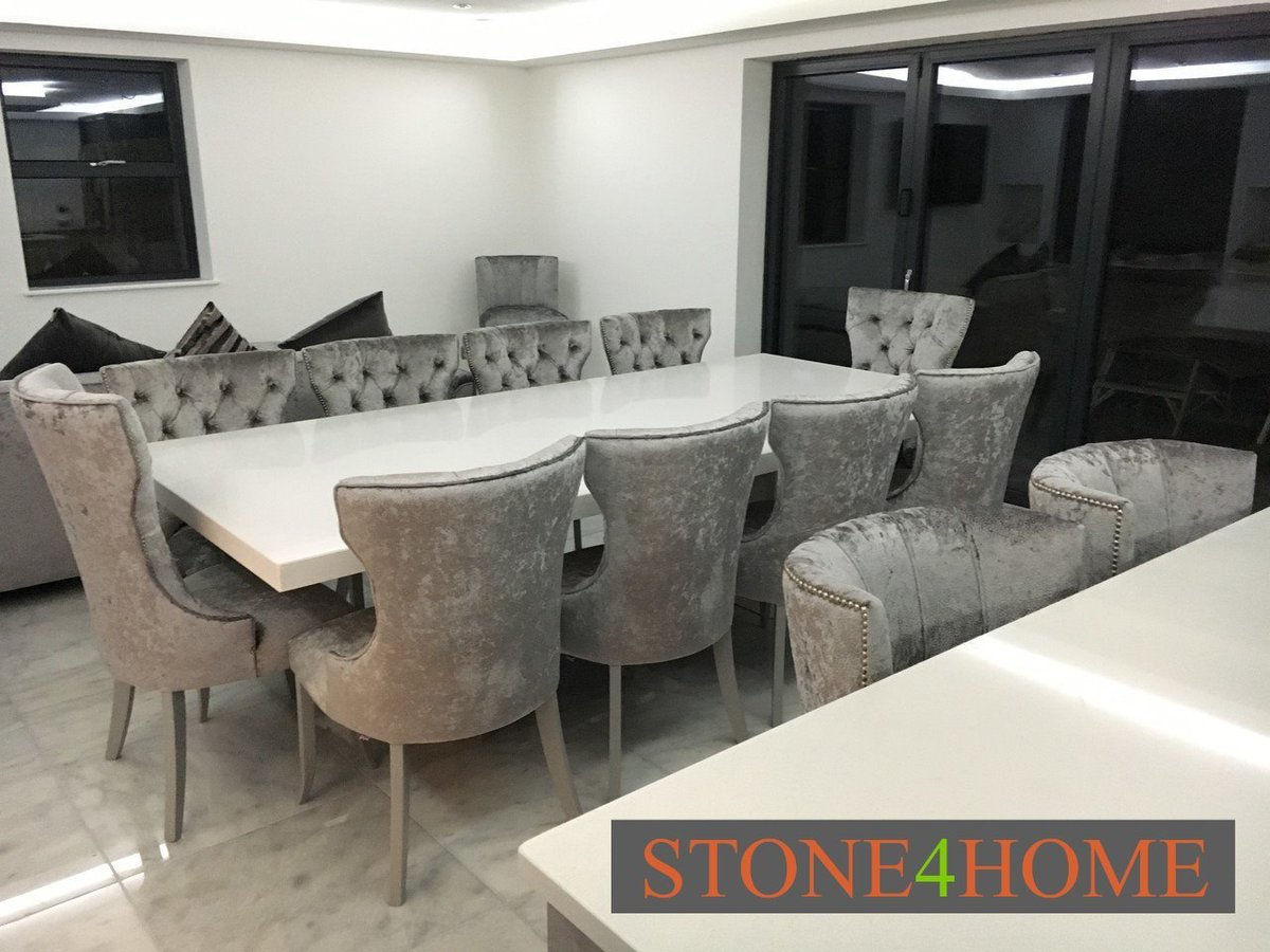 test Twitter Media - Eight dining chairs with two taller chairs at the ends of the table to create a statement. Quartz dining table, large single pedestal in matching stone. https://t.co/MWgmegvAnX